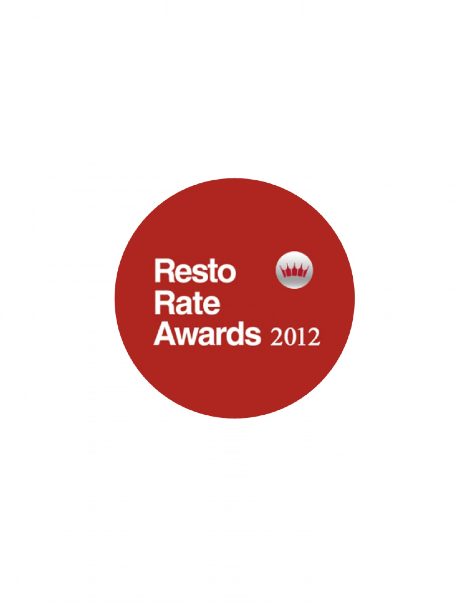 RESTO RATE AWARDS 2012 WINNER